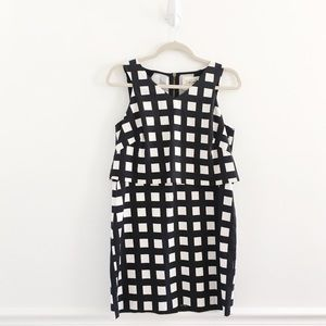 Anthropologie Gridway Windowpane Shift Dress